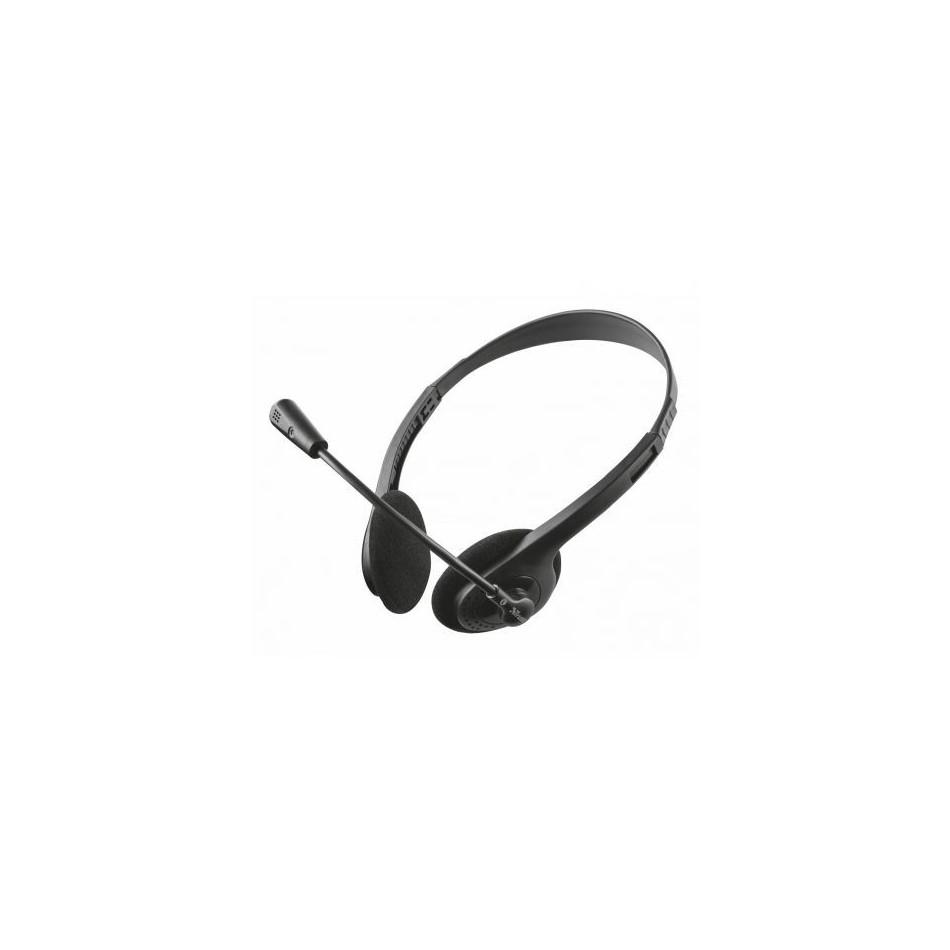 Comprar Auriculares Trust Primo Chat 21665  con Microfono  Jack 3.5  Negros