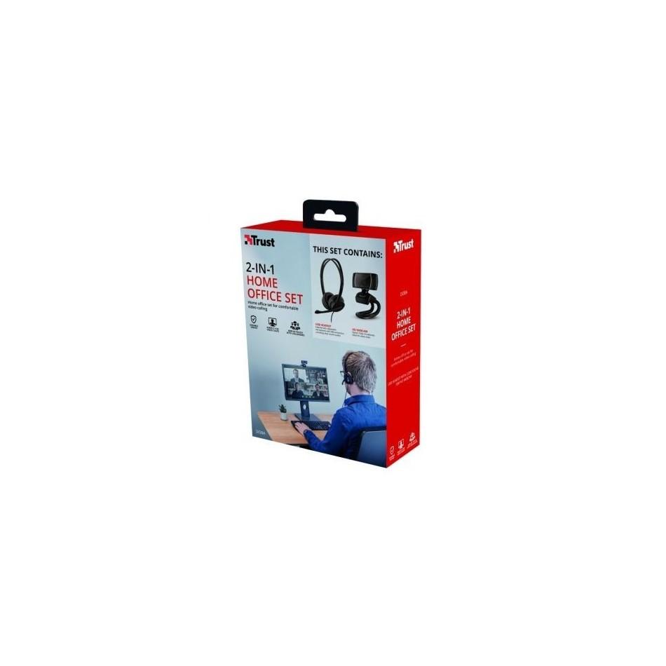 Comprar Pack 2 en 1 Trust Doba Home Office Set Webcam + Auriculares con Microfono