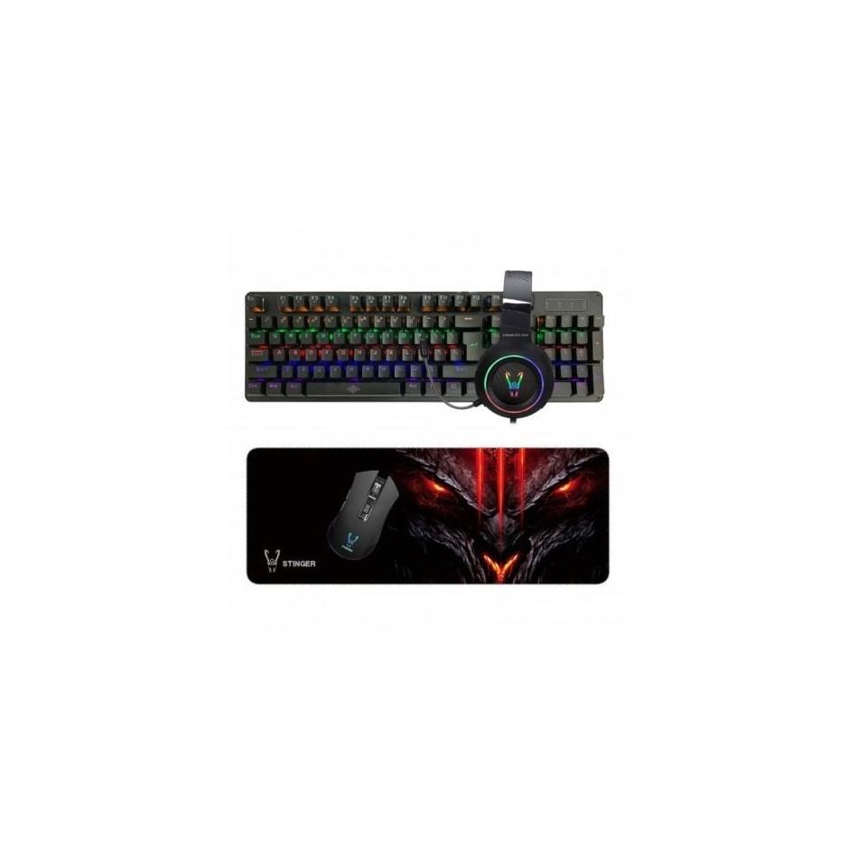 Comprar Pack gaming woxter stinger elite kit  teclado + ratón + alfombrilla + auriculares con micrófono