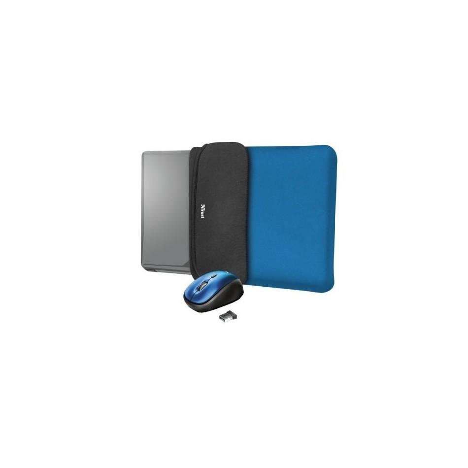 Comprar Funda + raton inalambrico trust yvo para portatiles hasta 15.6' azul