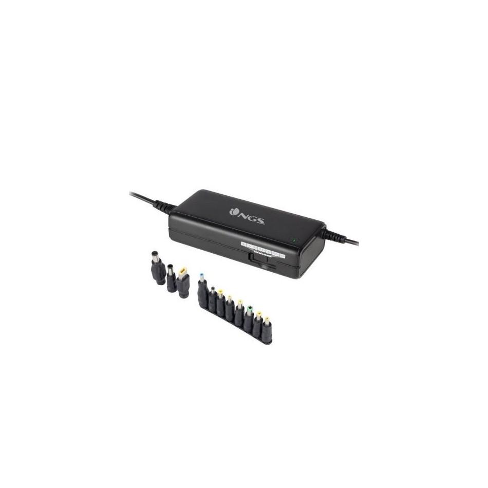 Comprar Cargador de portatil ngs ban 90w manual 11 conectores voltaje 12-20v