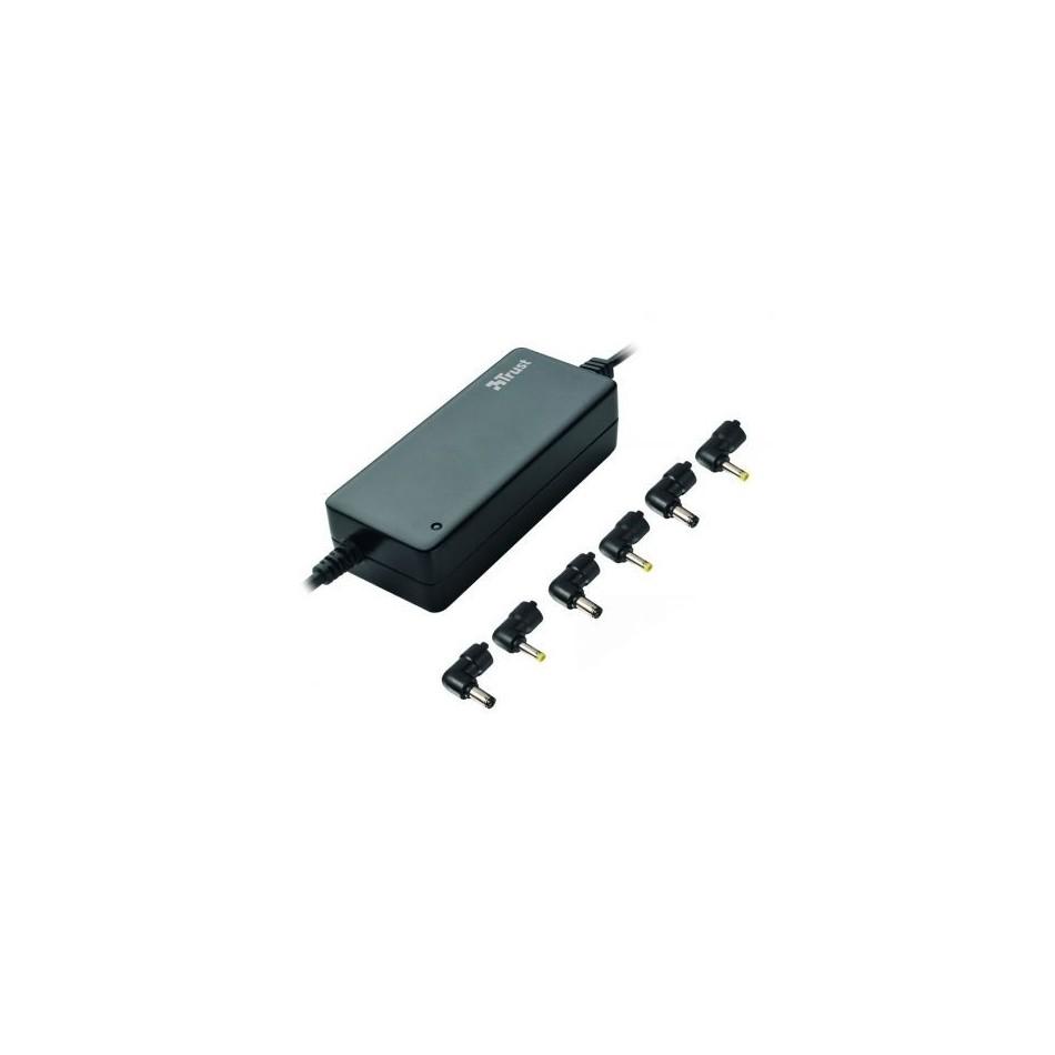Comprar Cargador de portatil universal trust 16665 65w automatico 6 conectores voltaje 9.5-20v