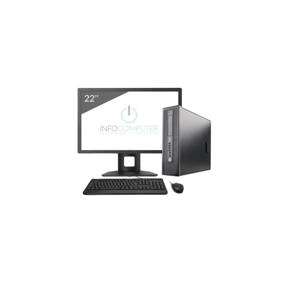 "Comprar HP 800 G1 SFF i5 4570 3.2GHz   8 GB   240 SSD   WIFI   WIN 10   LCD 22"""