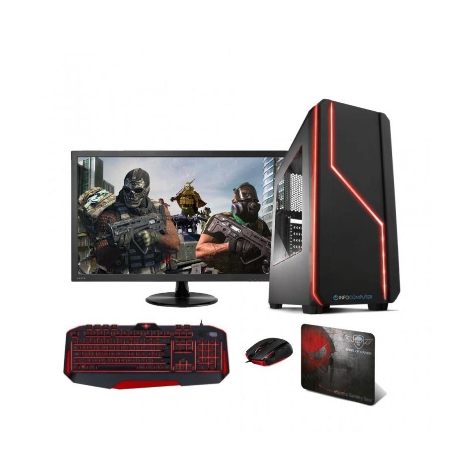 Comprar PC Gaming INTEL I3 9100 (9º) 3.6 Ghz | 16GB DDR4 2666|  240 SSD |HDD 1 TB|MONITOR 24