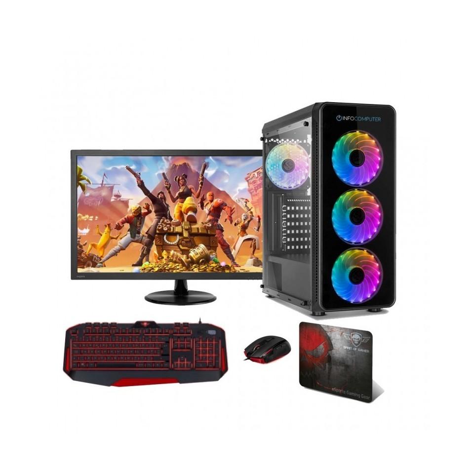 Comprar PC Gaming  AMD Ryzen 5 3600 | 16 GB DDR4 | 1TB + 240 SSD | WIFI | GT 710 2 GB | 24 LCD