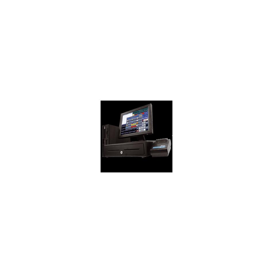 Comprar Conjunto TPV - PC IC i5 | 8 GB | 128 SSD | LCD 19 | Cajón | Impresora | Lector código Barras | Visor | Teclado y Raton incluido