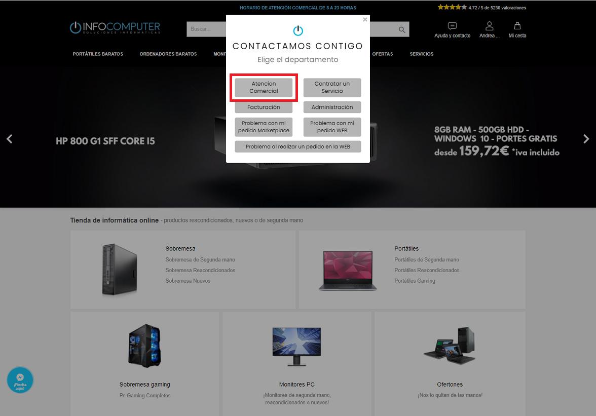 contacto comercial infocomputer departamento
