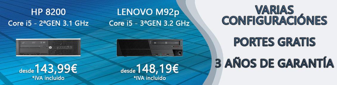 HP 8200 y Lenovo M92p