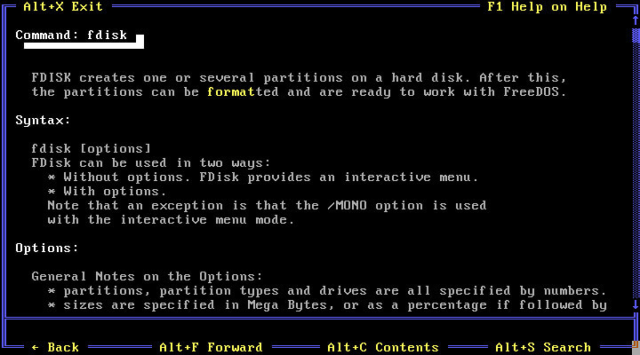 como funciona Sistema operativo FreeDOS