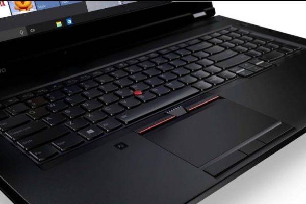 lenovo p50 vista de su teclado